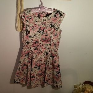 Gap Kids Size 12 Blue Pink Flowered Pleated Dress